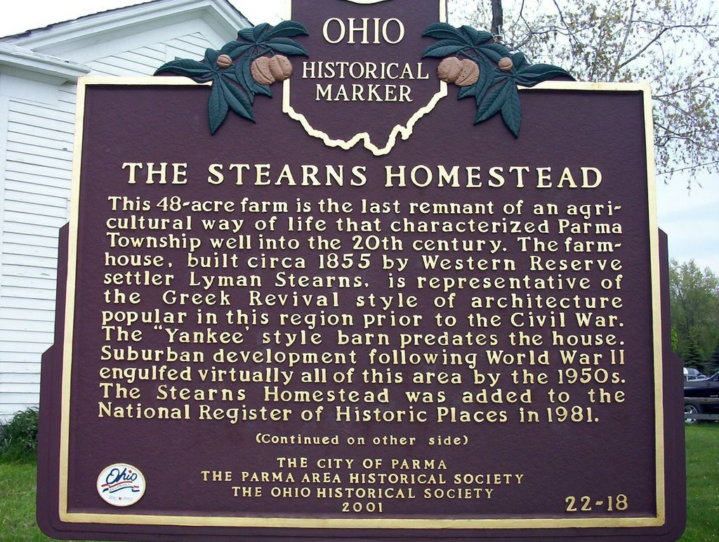 historial marker for steanrs homestead