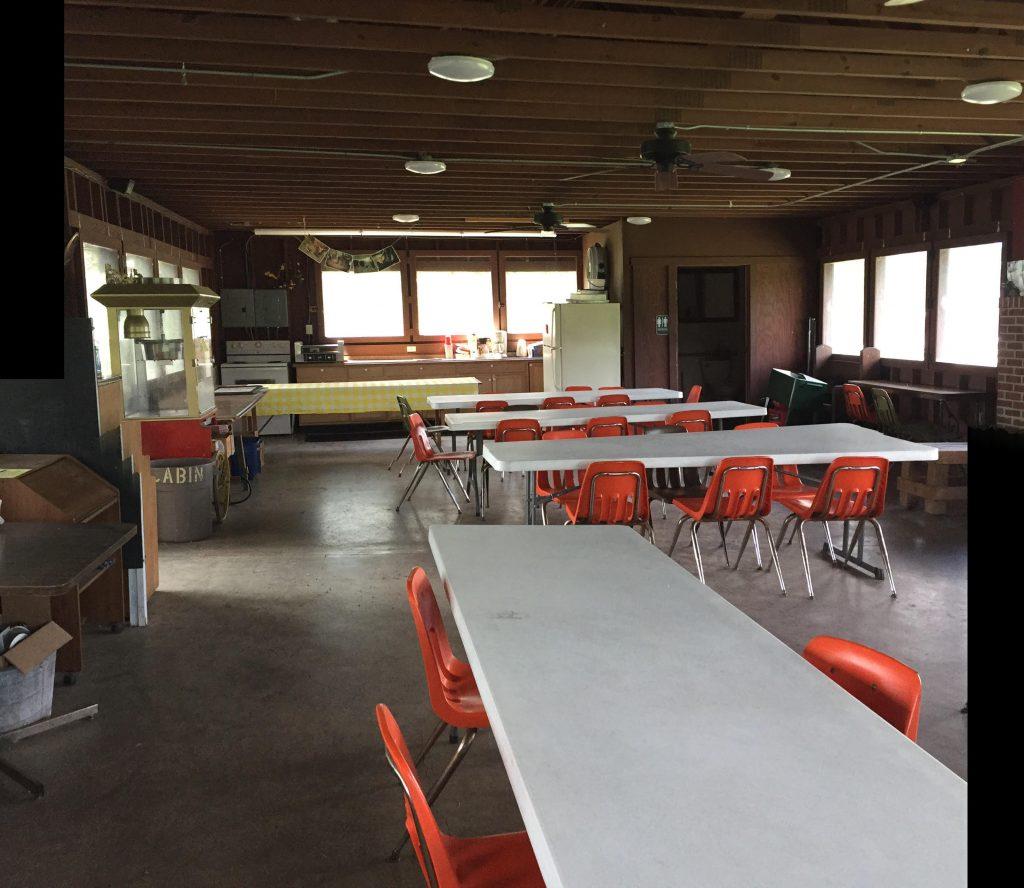 sitting area inside a cabin